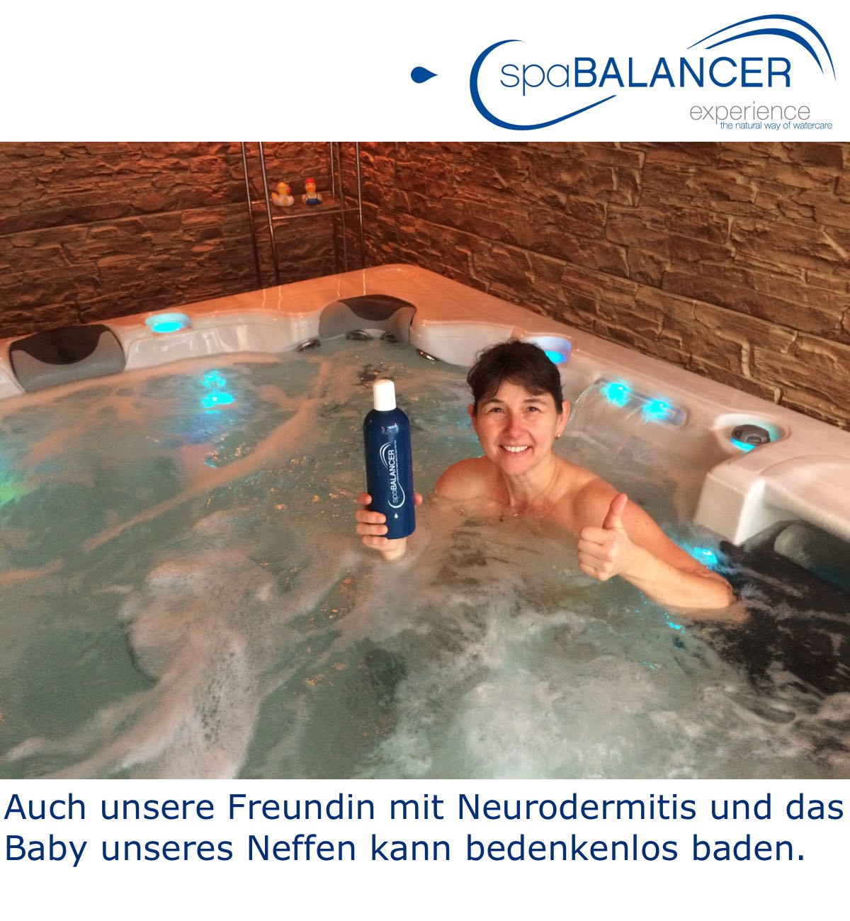 Relativ Baden mit Neurodermitis im Whirlpool ohne Chlor | SpaBalancer CG18