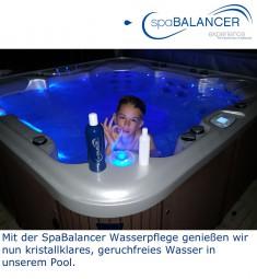 Klares Wasser ohne Geruch  mit SpaBalancer im Pool