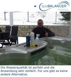 Perfekte Wasserqualität im Whirlpool mit der chlorfreien Alternative SpaBalancer
