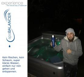 Super klares Wasser im Spa